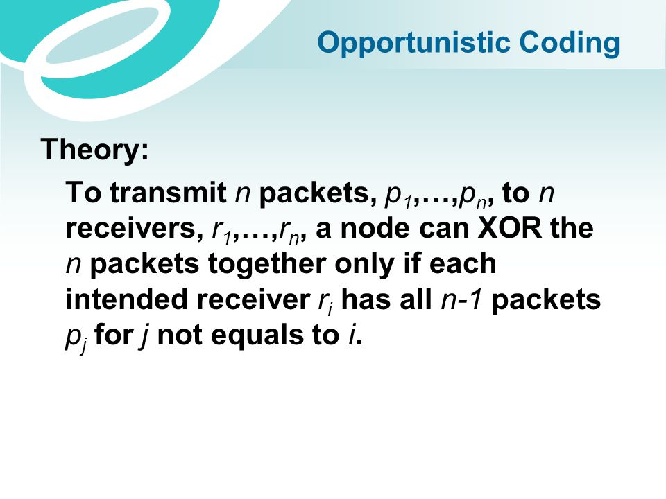 Opportunistic Coding Theory: