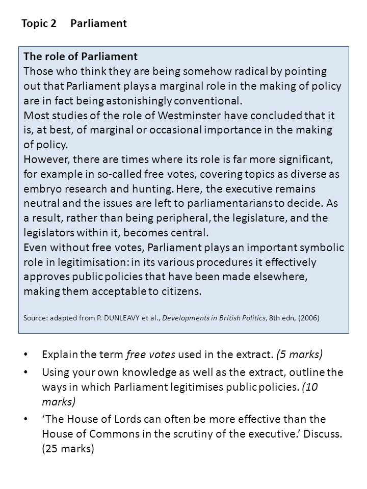 Topic 2 Parliament