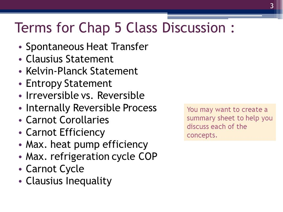Terms for Chap 5 Class Discussion :