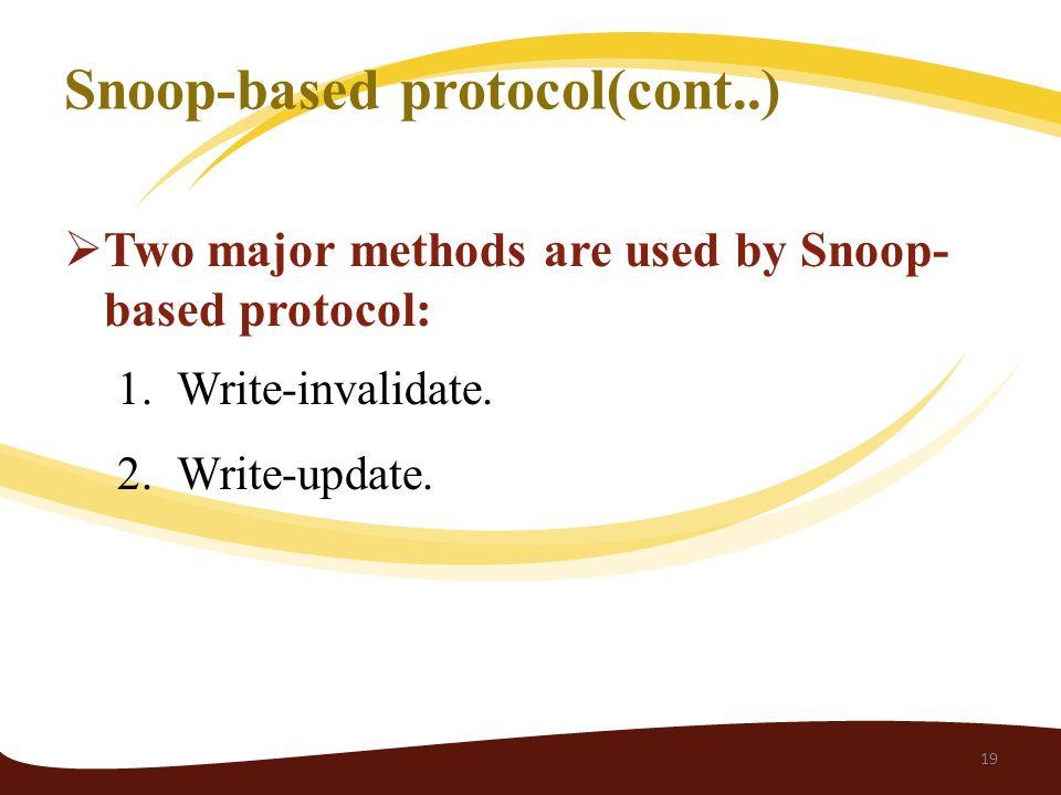 Snoop-based protocol(cont..)