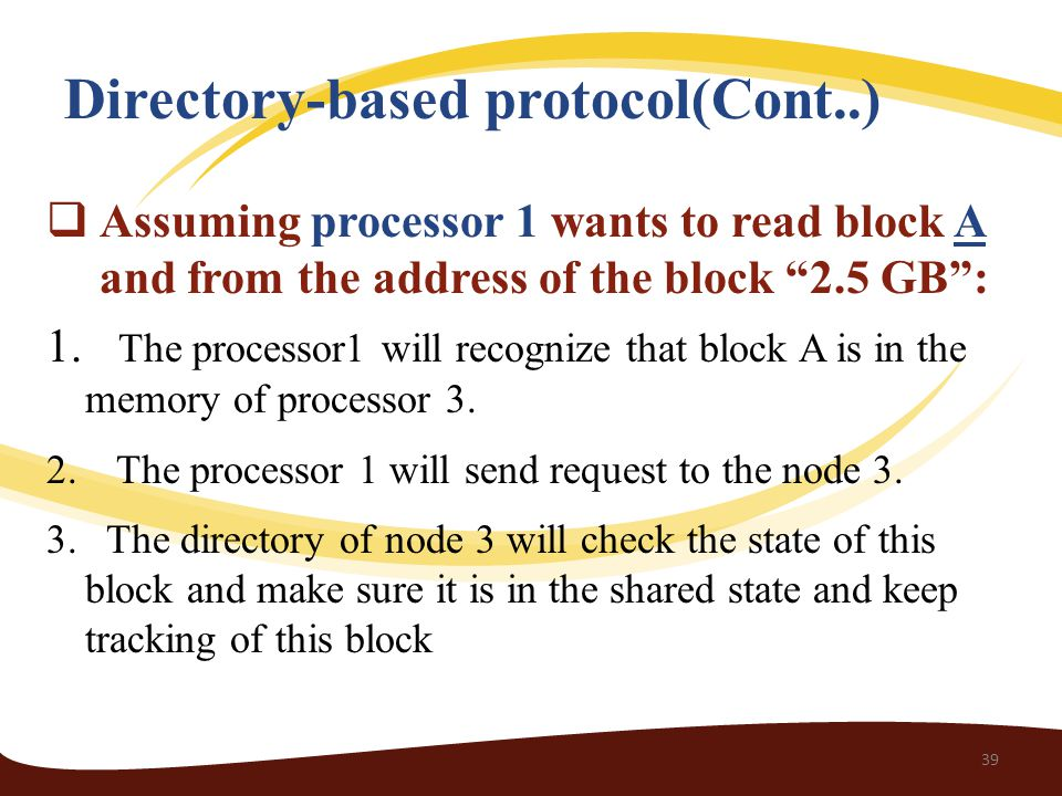 Directory-based protocol(Cont..)
