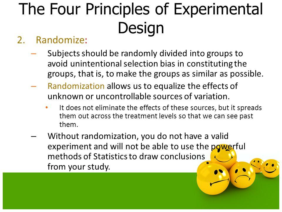 The Four Principles of Experimental Design