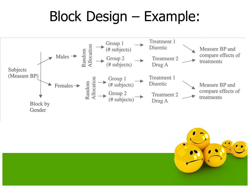 Block Design – Example: