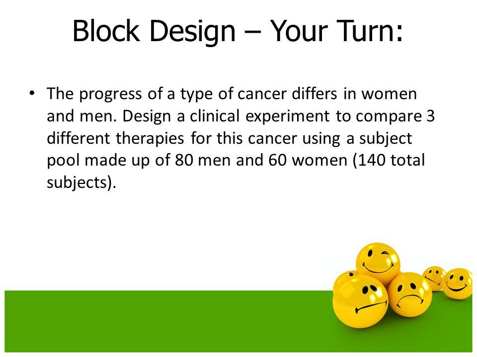 Block Design – Your Turn:
