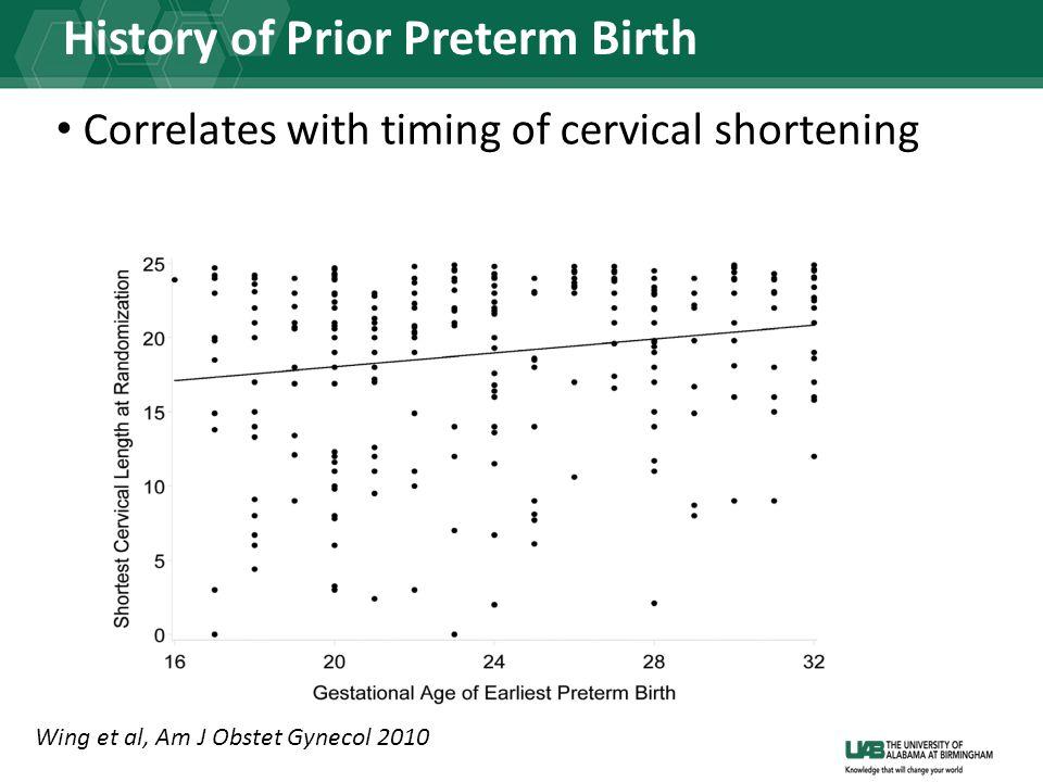 History of Prior Preterm Birth