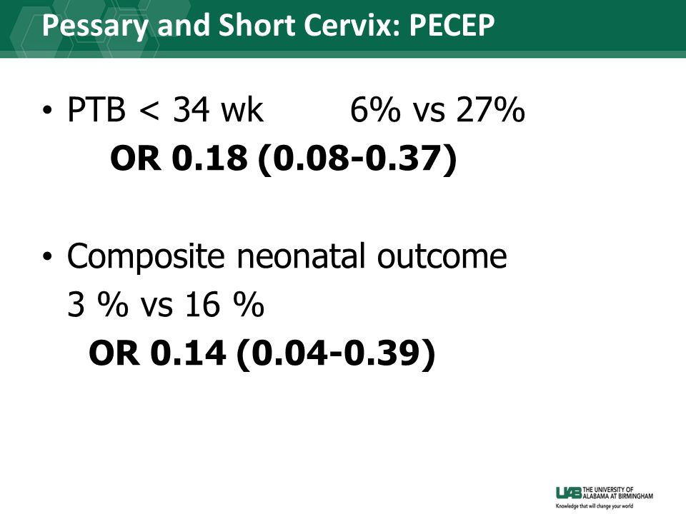 Pessary and Short Cervix: PECEP
