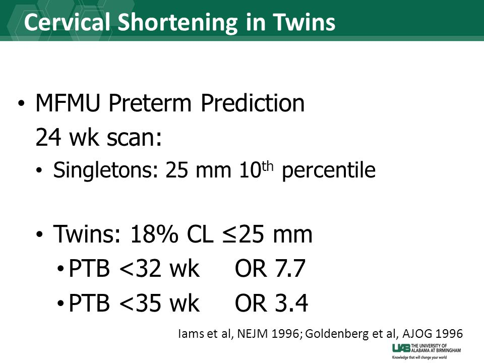 Cervical Shortening in Twins