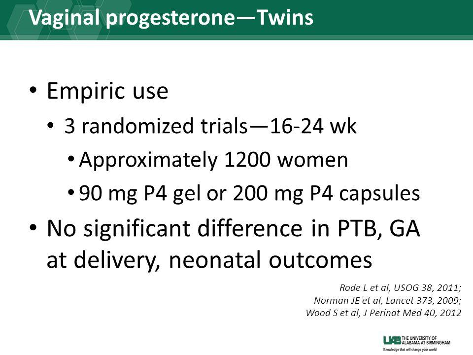 Vaginal progesterone—Twins