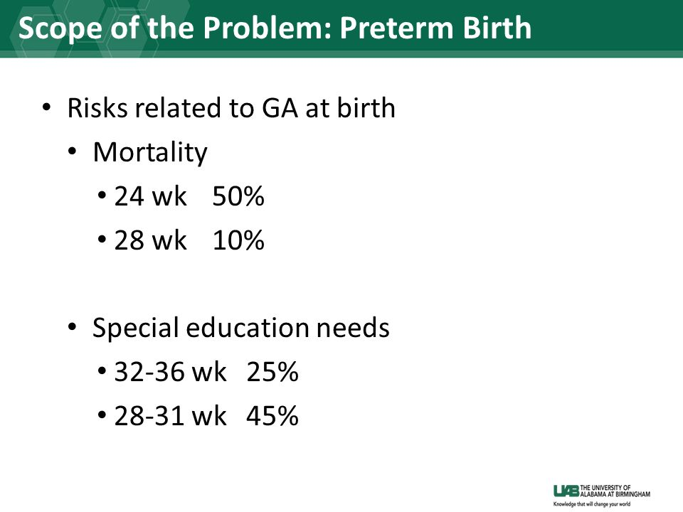 Scope of the Problem: Preterm Birth