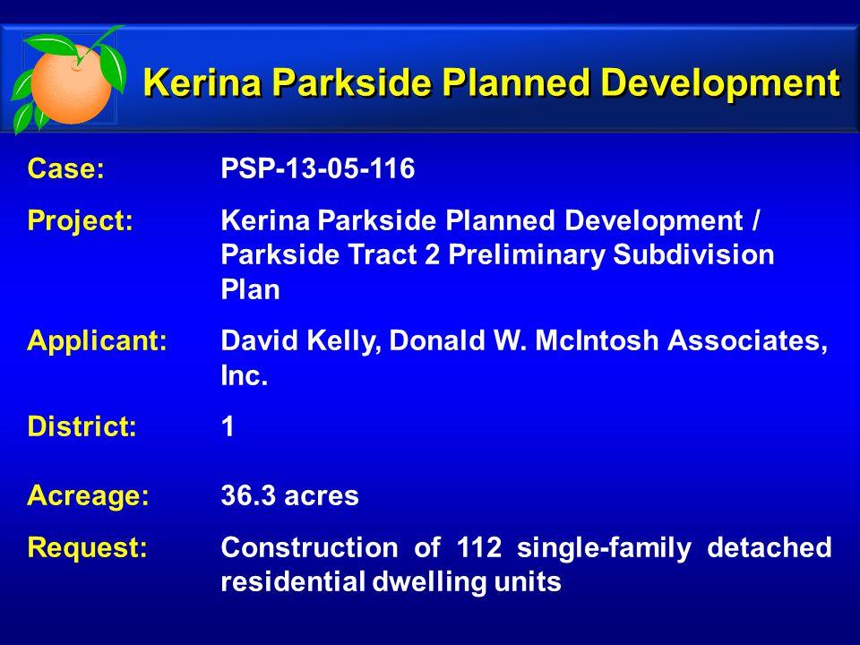 Kerina Parkside Planned Development