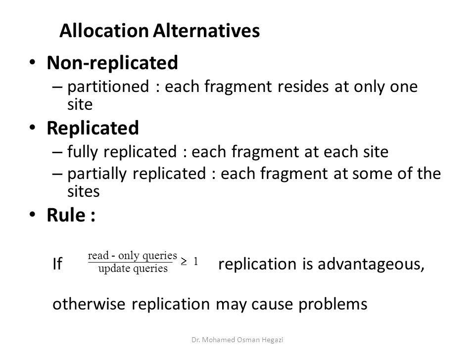 Allocation Alternatives