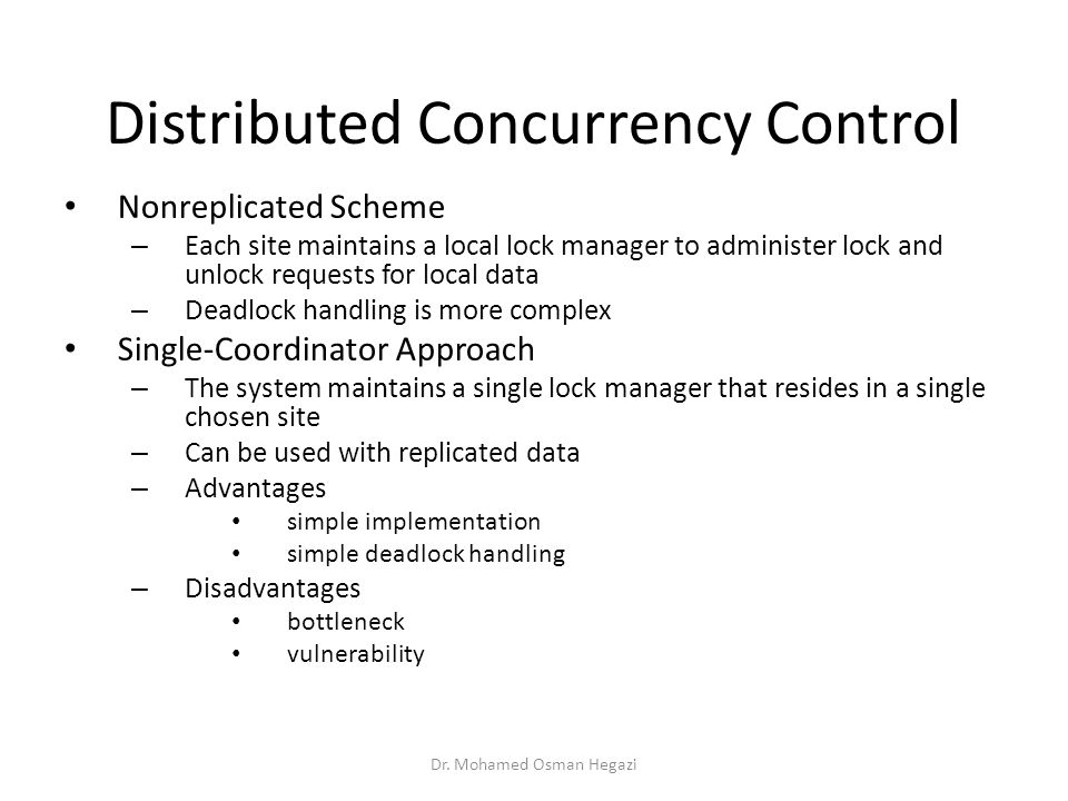 Distributed Concurrency Control
