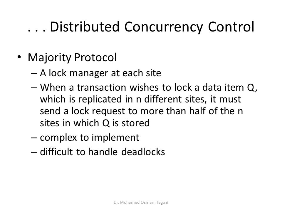 . . . Distributed Concurrency Control