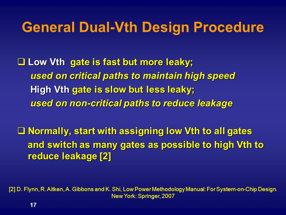 General Dual-Vth Design Procedure
