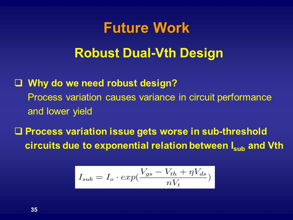 Robust Dual-Vth Design
