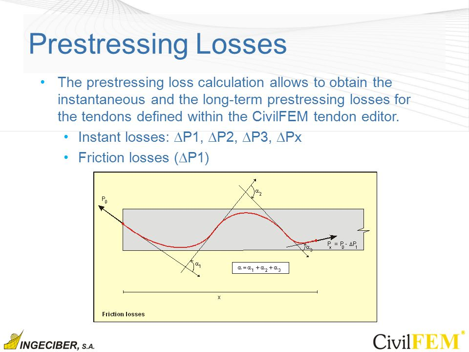 prestressed losses Procedures for a three-span prestressed concrete girder bridge site location is assumed to be near socorro, new mexico,  prestressed girder concrete:.
