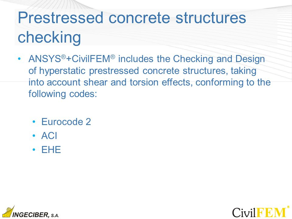 Prestressed concrete structures checking