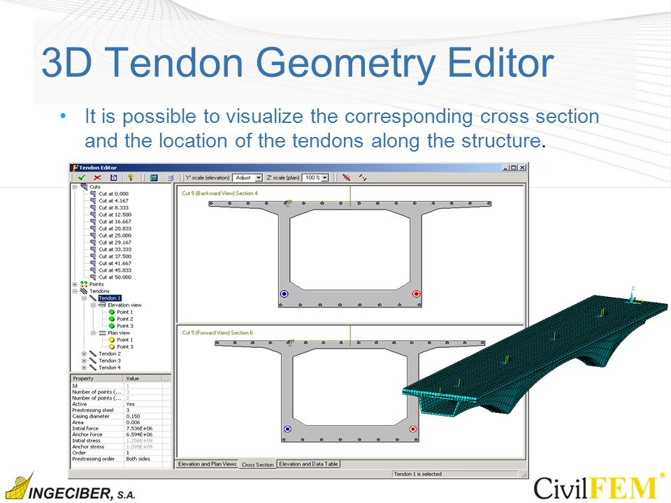 Solutions for prestressed reinforced concrete structures 3d editor