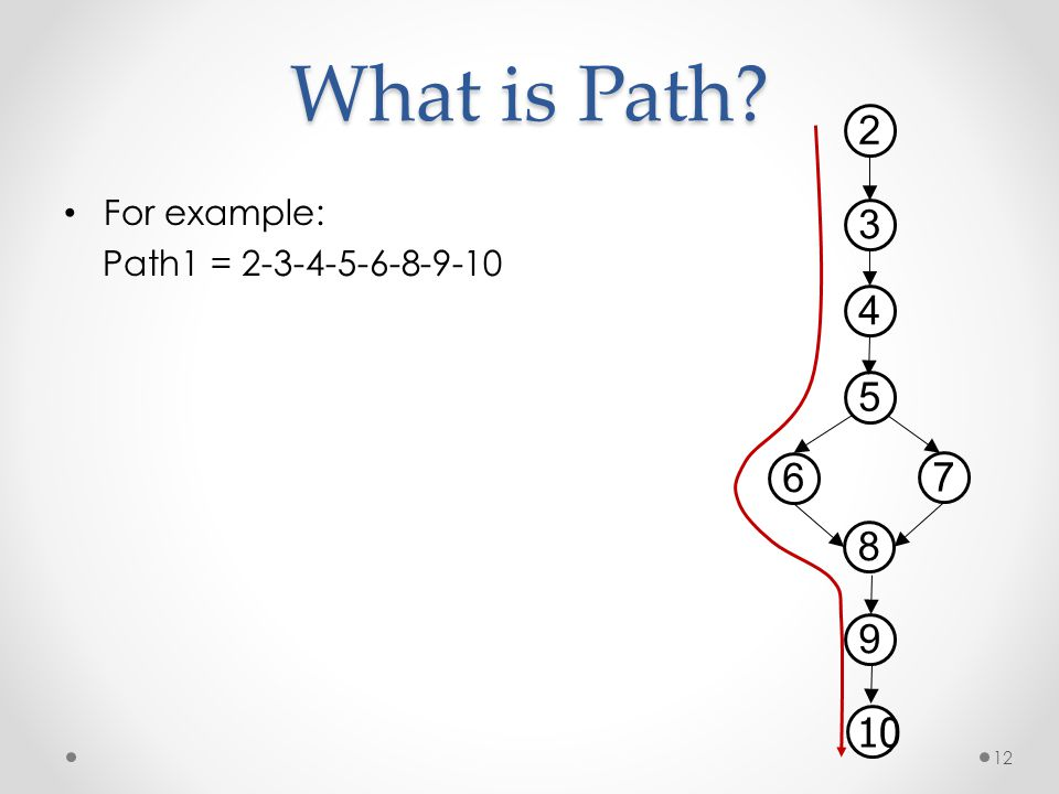 What is Path 2 3 4 5 6 7 8 9 10 For example: Path1 = 2-3-4-5-6-8-9-10