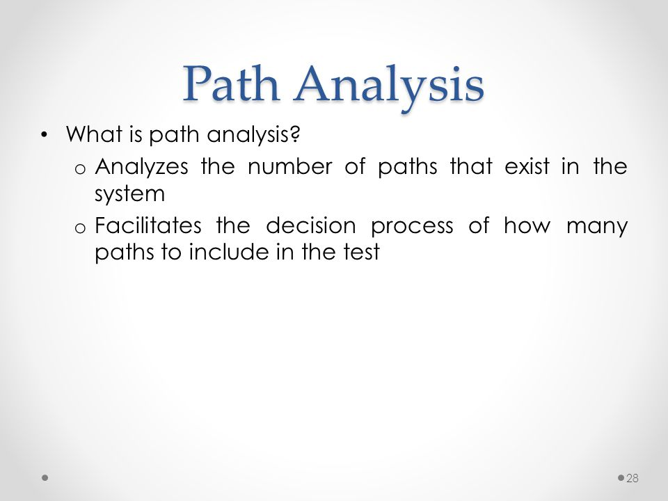 Path Analysis What is path analysis