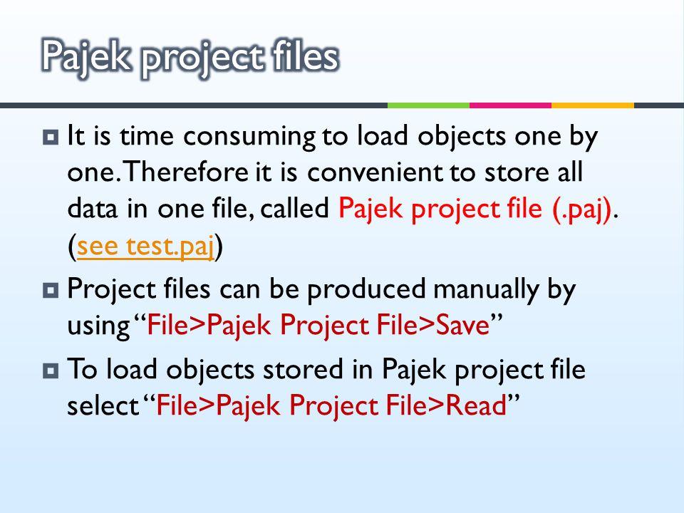 Pajek project files