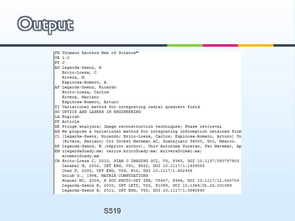 Output S519