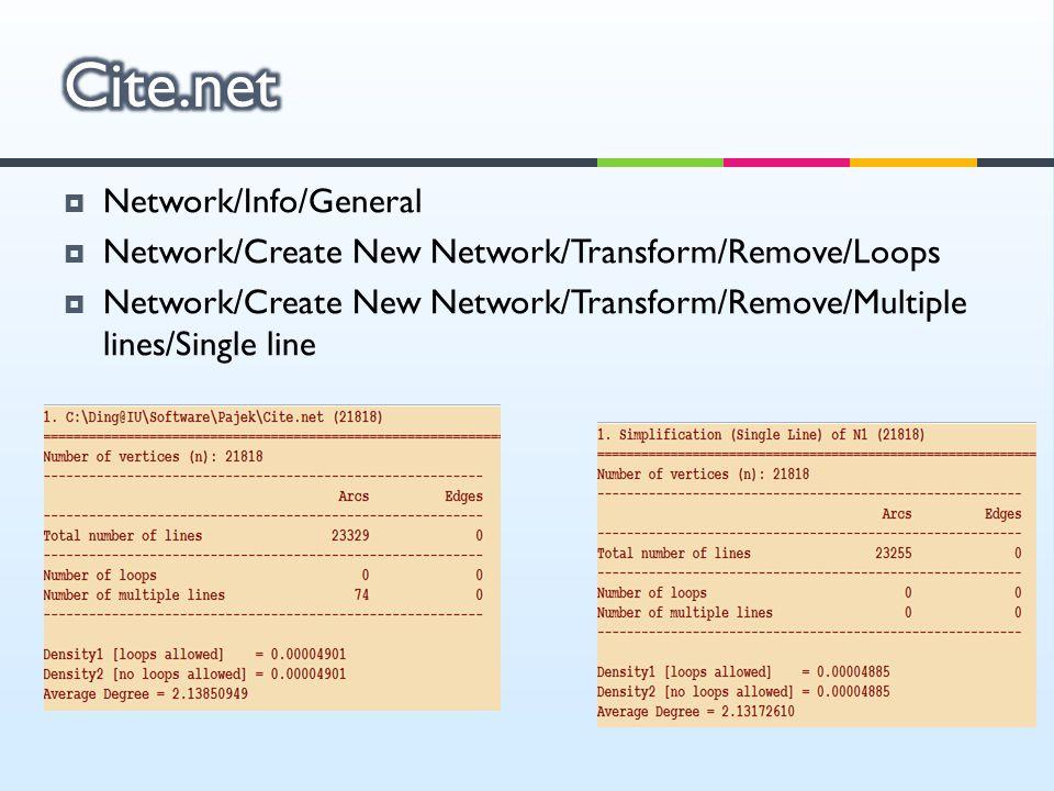 Cite.net Network/Info/General