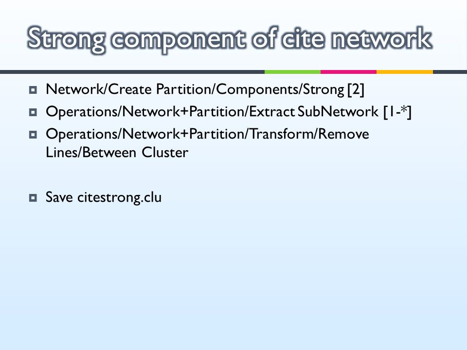 Strong component of cite network