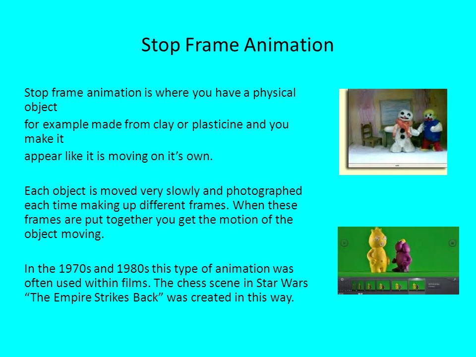 Stop Frame Animation
