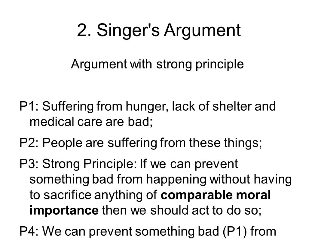 Argument with strong principle