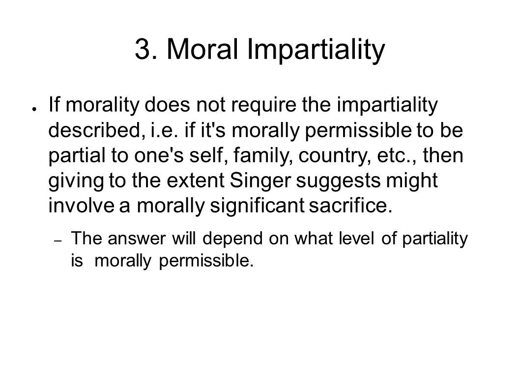 3. Moral Impartiality