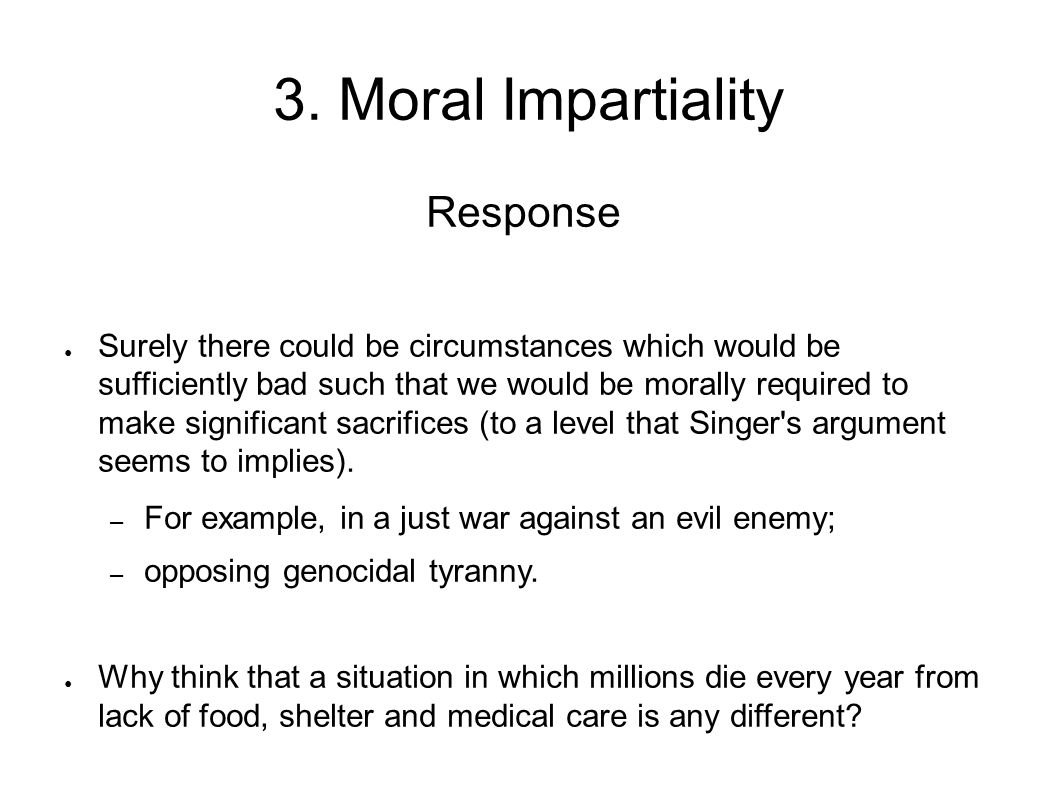 3. Moral Impartiality Response