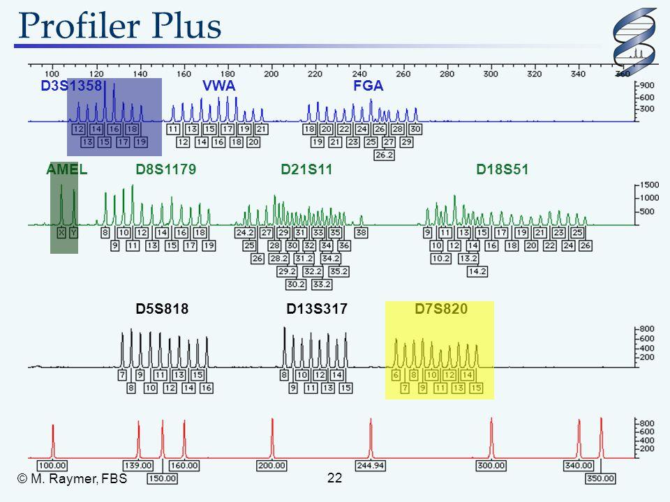 Profiler Plus D3S1358 VWA FGA AMEL D8S1179 D21S11 D18S51 D5S818