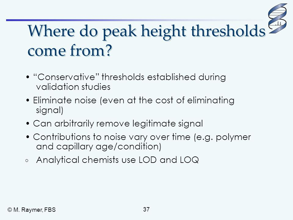 Where do peak height thresholds come from