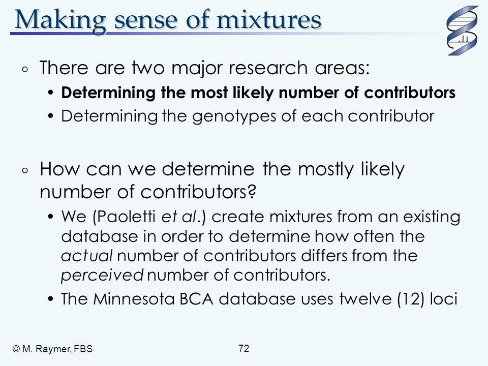 Making sense of mixtures