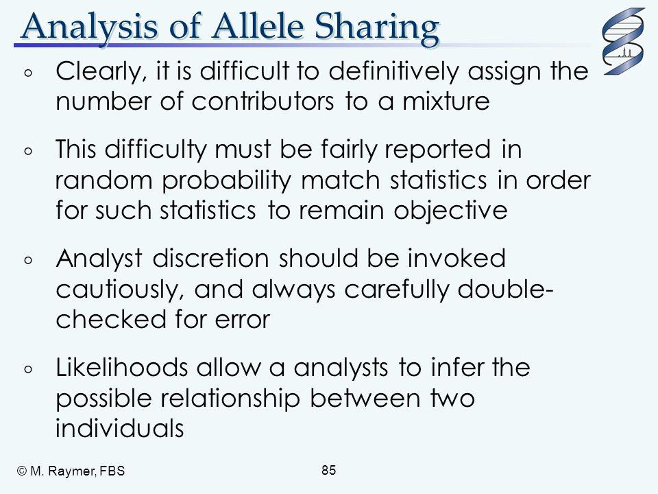 Analysis of Allele Sharing