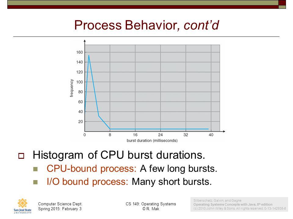 Process Behavior, cont'd