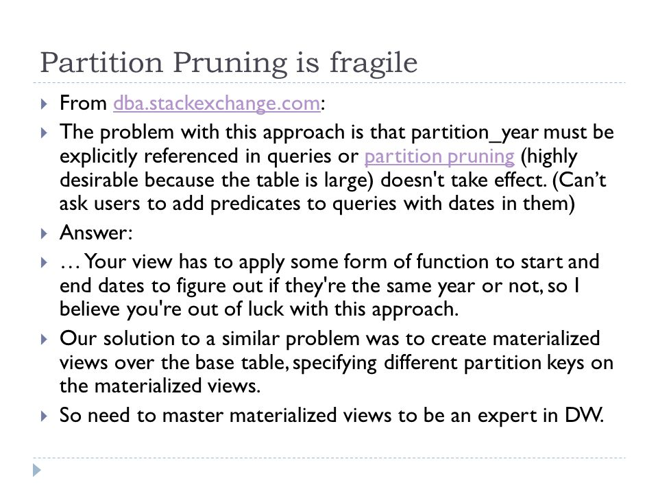 Partition Pruning is fragile