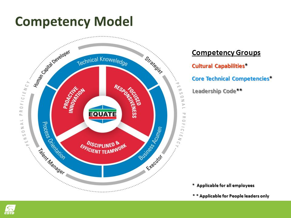 Competency Model Competency Groups Cultural Capabilities*