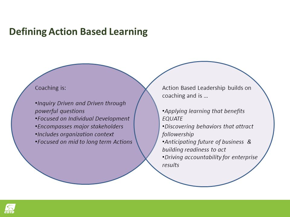 Defining Action Based Learning
