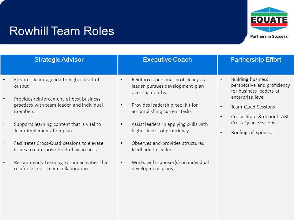 Rowhill Team Roles Strategic Advisor Executive Coach