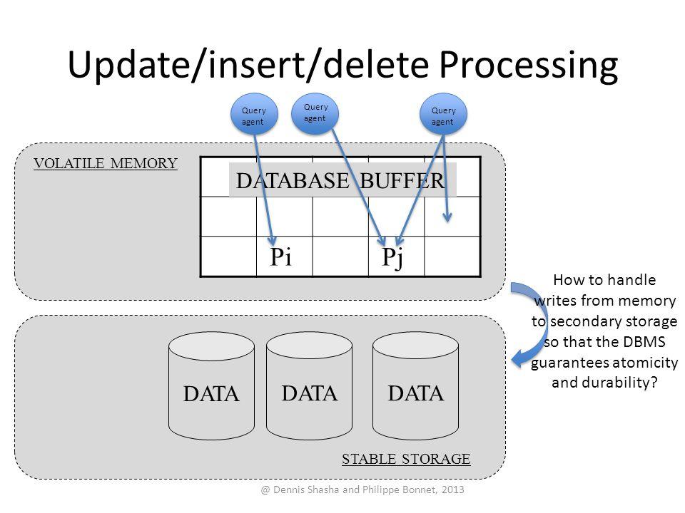 Update/insert/delete Processing