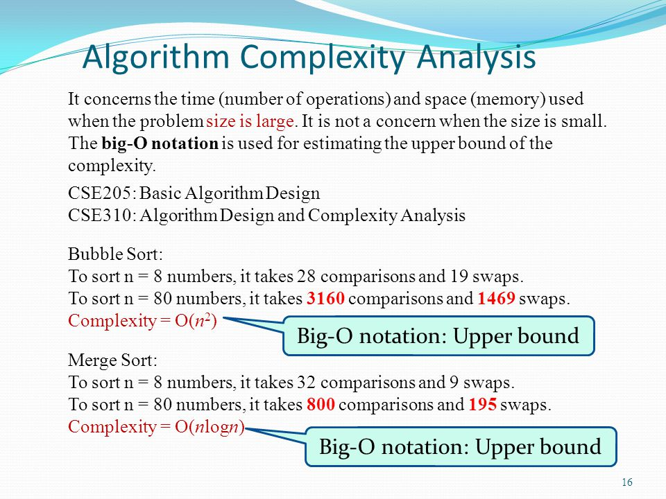 Algorithm Complexity Analysis