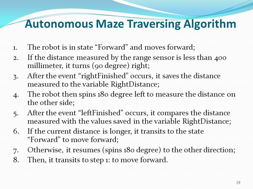 Autonomous Maze Traversing Algorithm