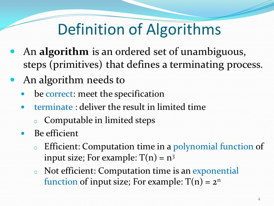 Definition of Algorithms