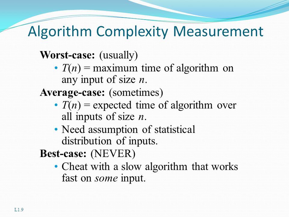 Algorithm Complexity Measurement