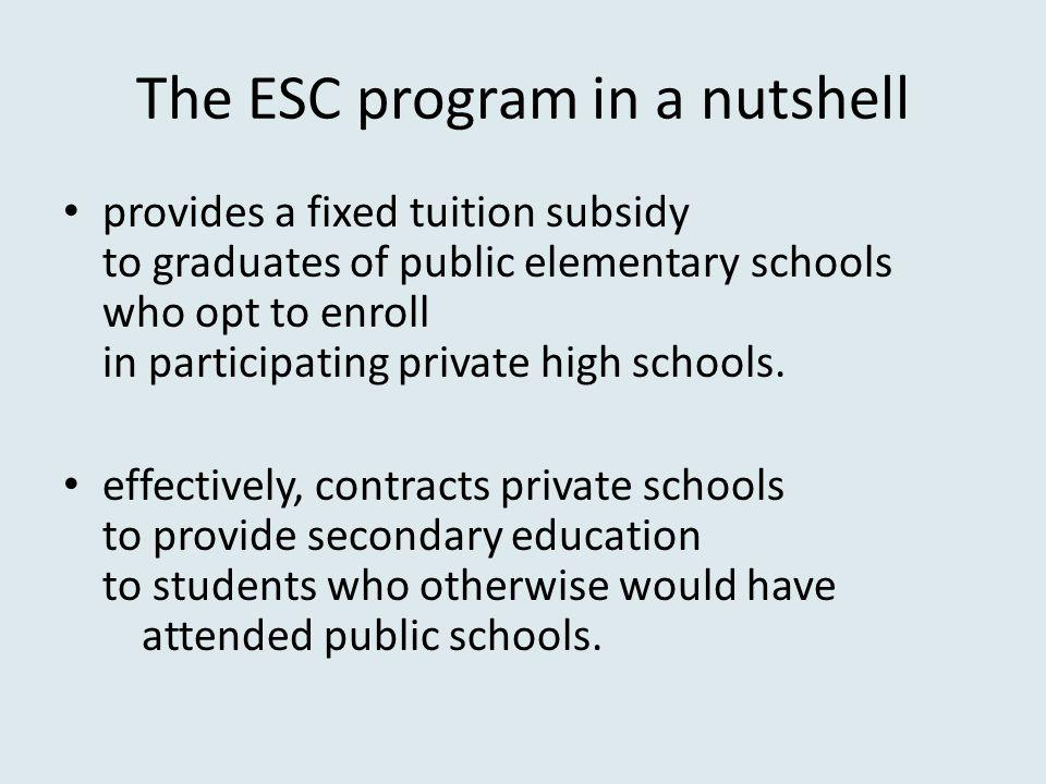 The ESC program in a nutshell