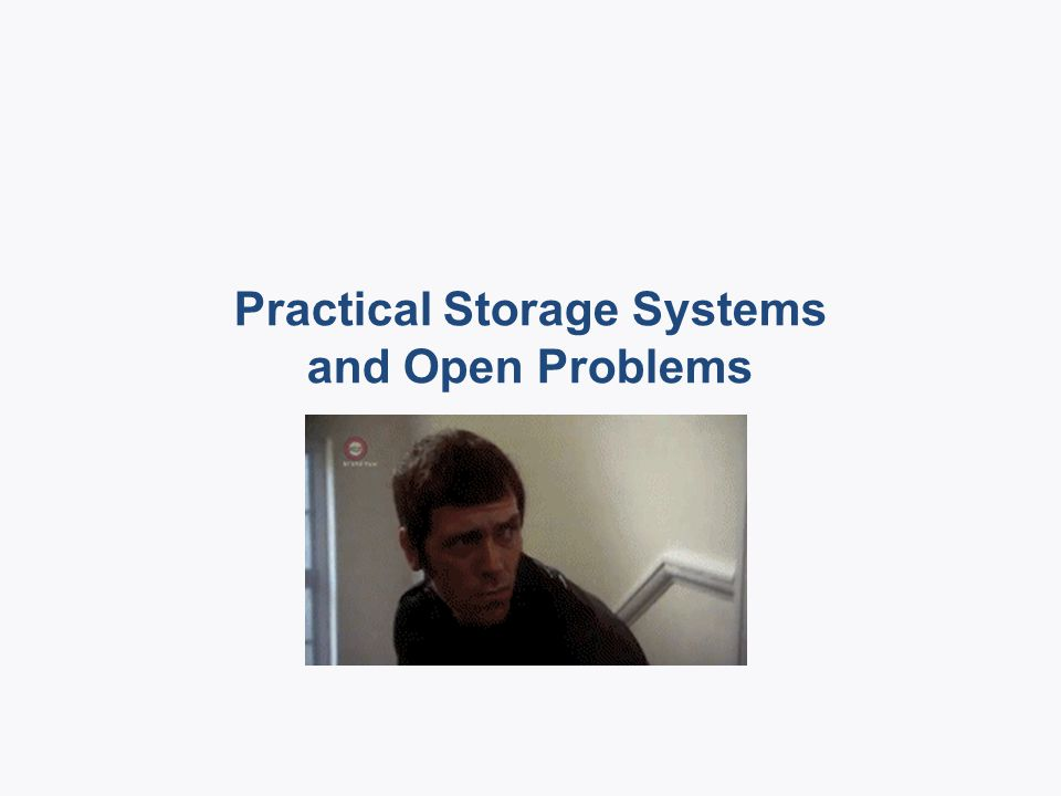 Real systems that use distributed storage codes