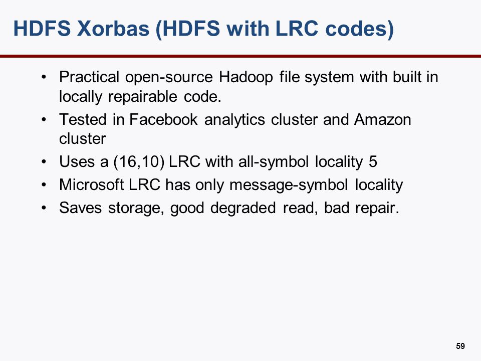 HDFS Xorbas