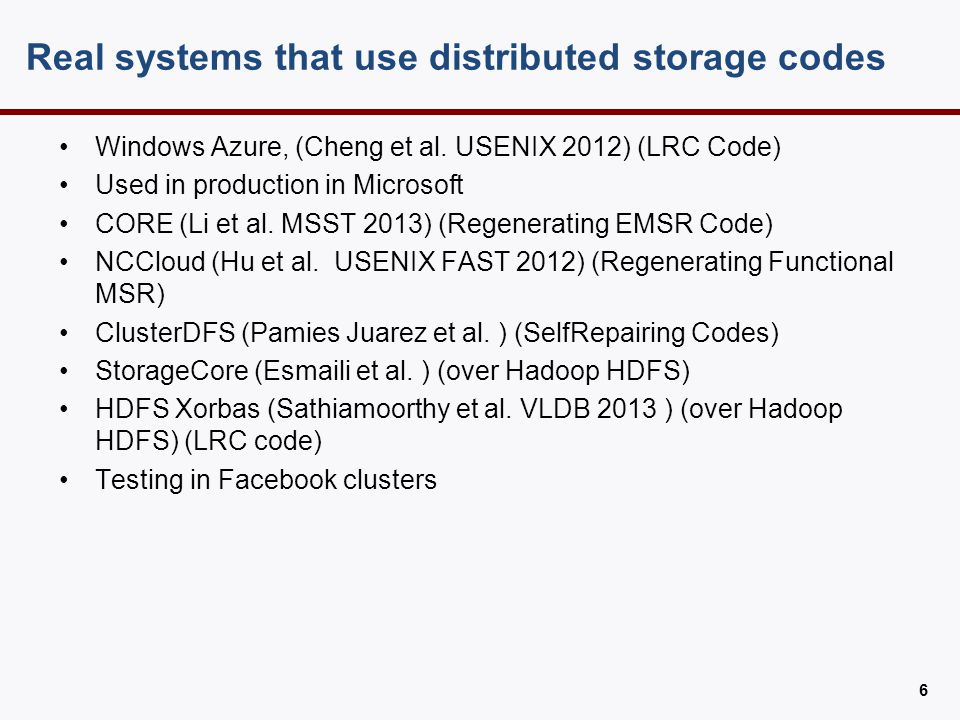 Coding theory for Distributed Storage